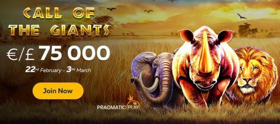 call of the giants slot tournament